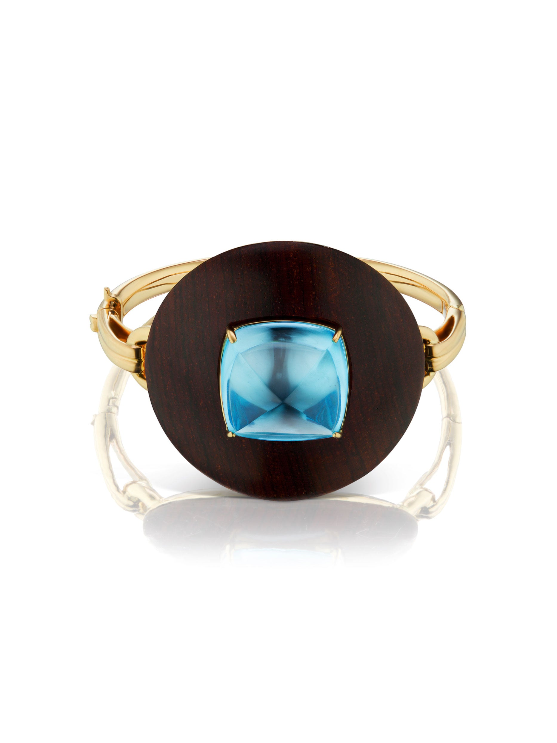 Voyager Blue Topaz Wood Bangle