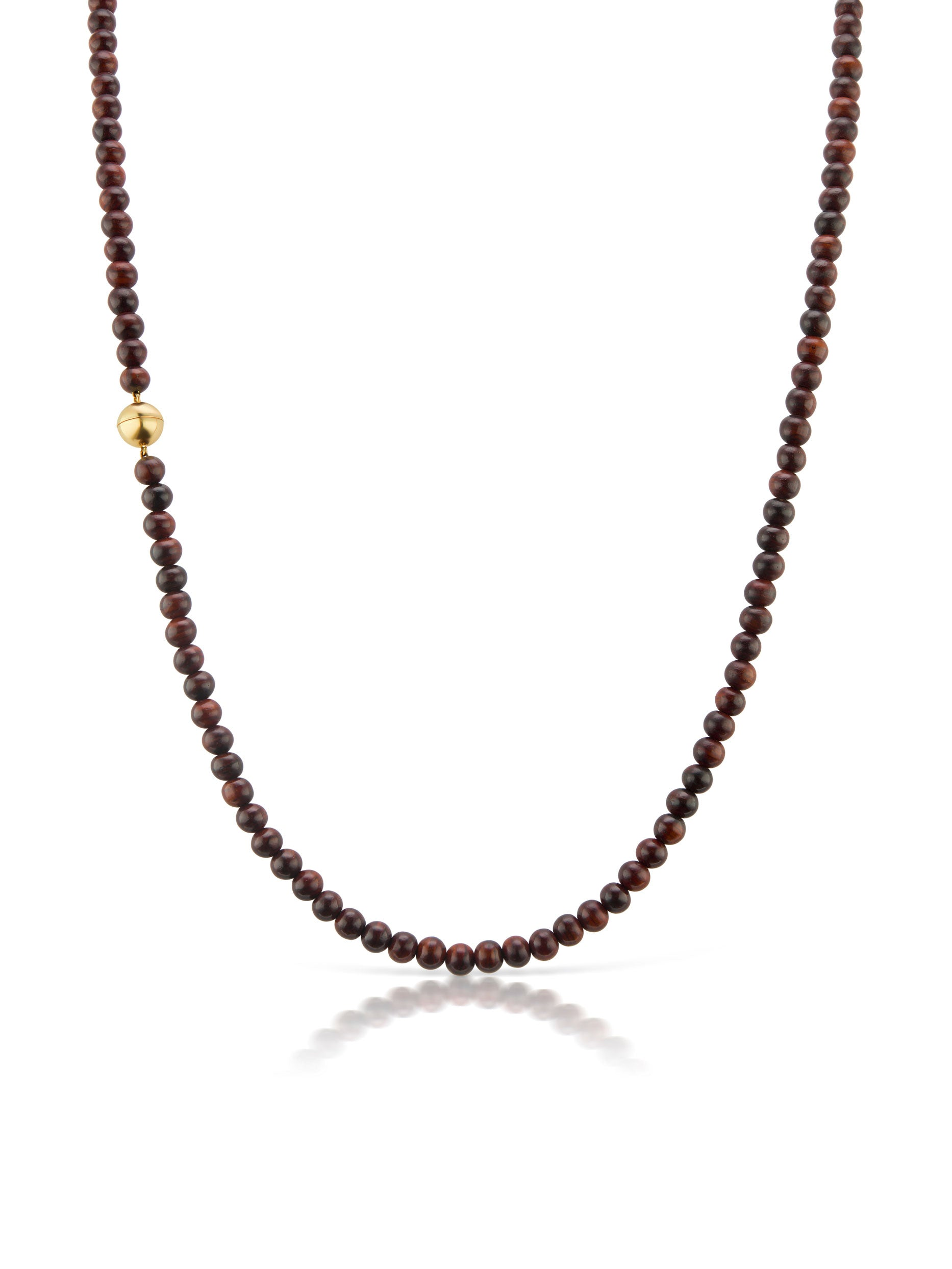 Voyager Long Single Strand Wood Bead Necklace