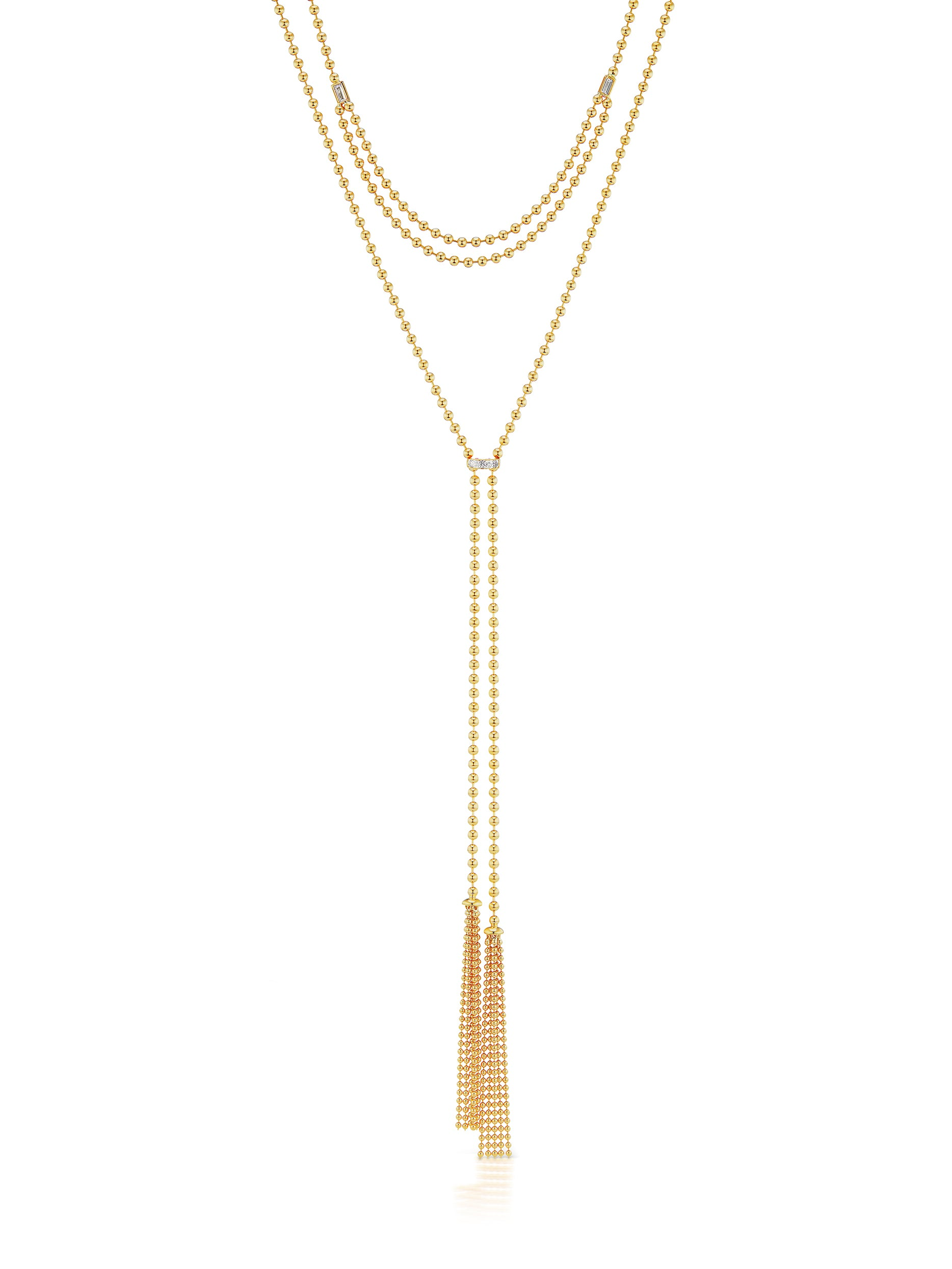 Flapper Adjustable Double Row Tassel Necklace