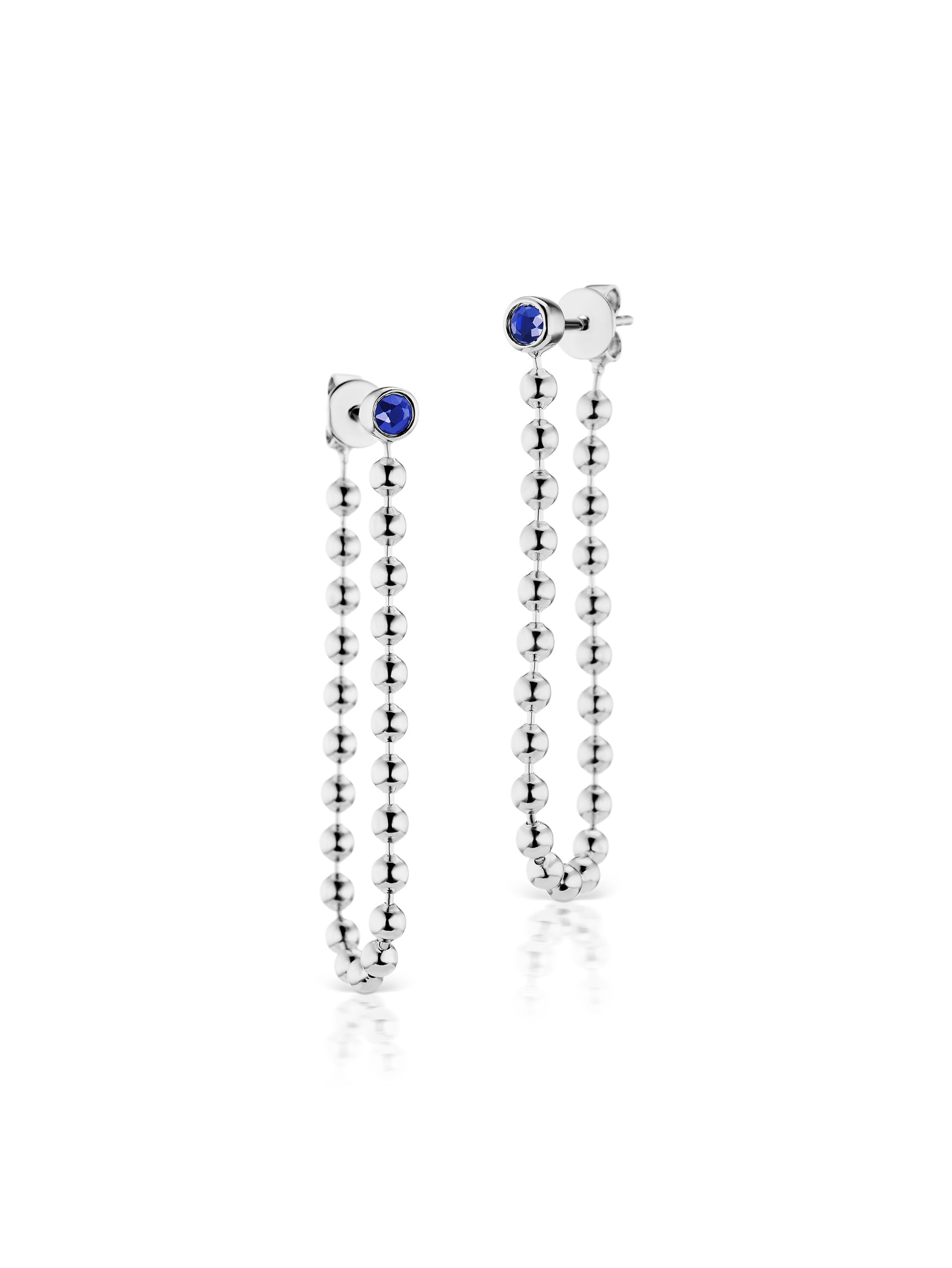 Sterling Fringe Ball Chain Earring