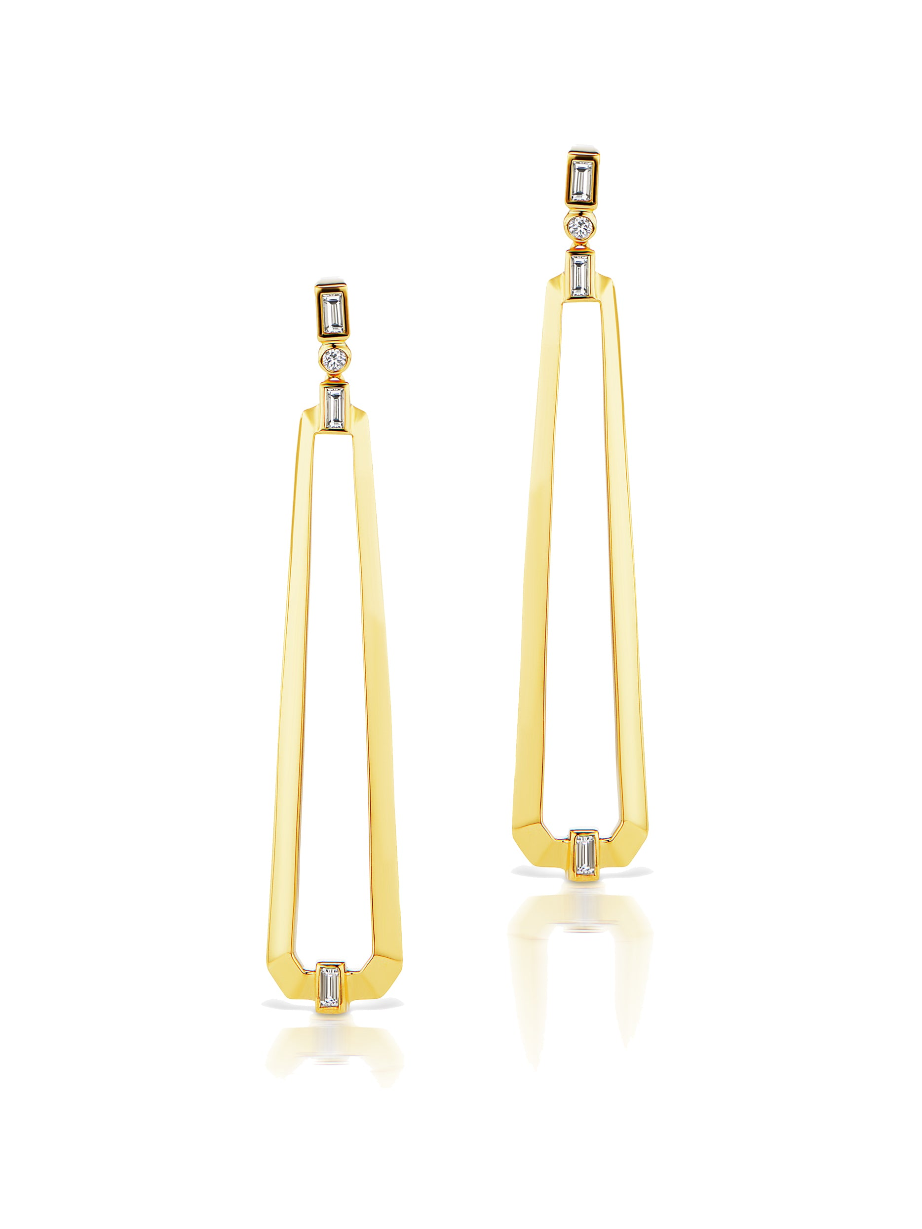 Deco Trapezoid Drop Earrings