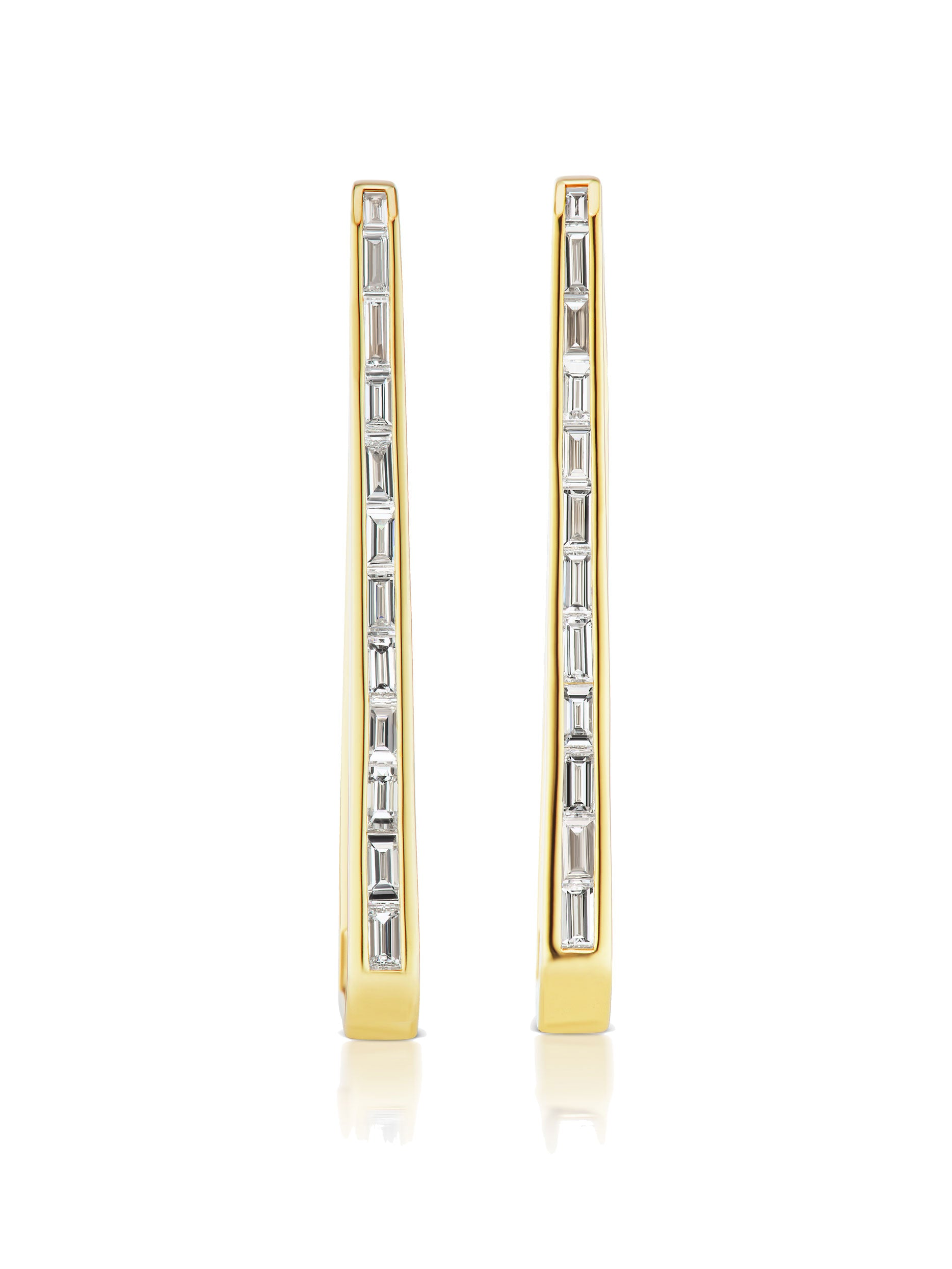 Deco Trapezoid Hoop Earrings
