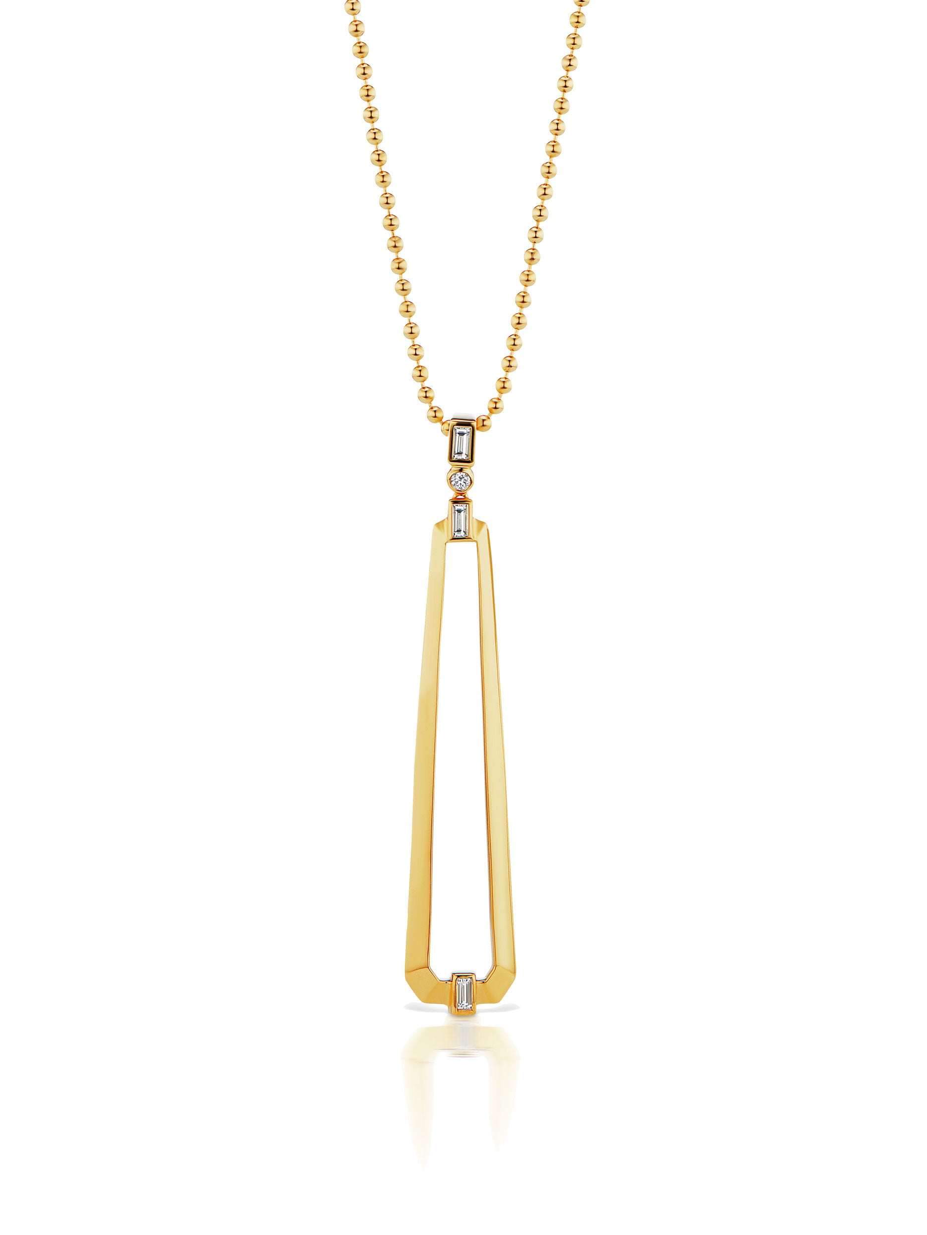 Deco Trapezoid Pendant Necklace