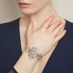 Deco Diamond Mosaic Cuff on model