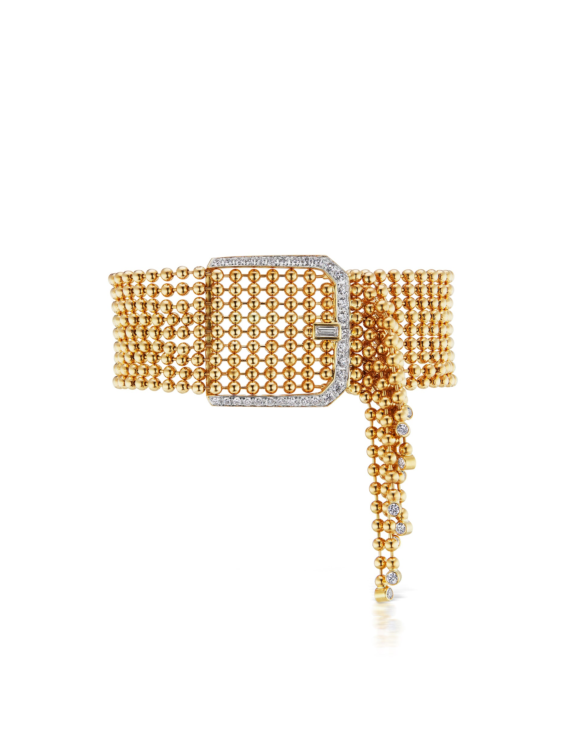 Flapper Diamond Buckle Bracelet