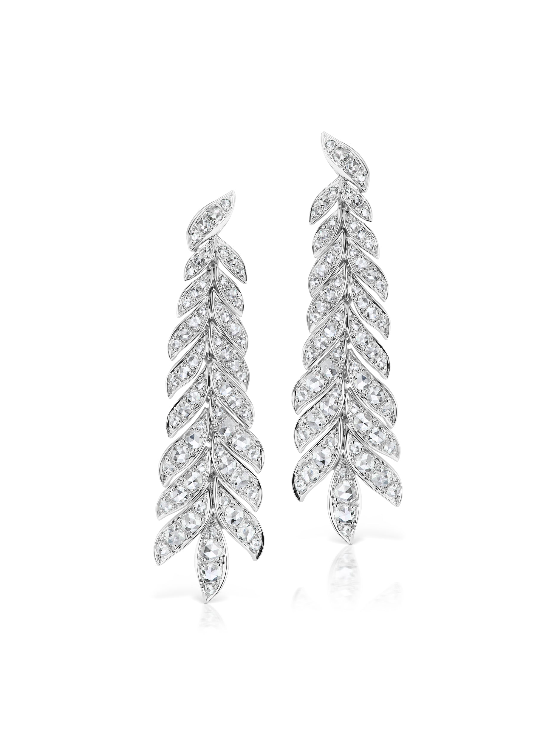 Long Petal Diamond earrings – mariacanale 20d66d1b64