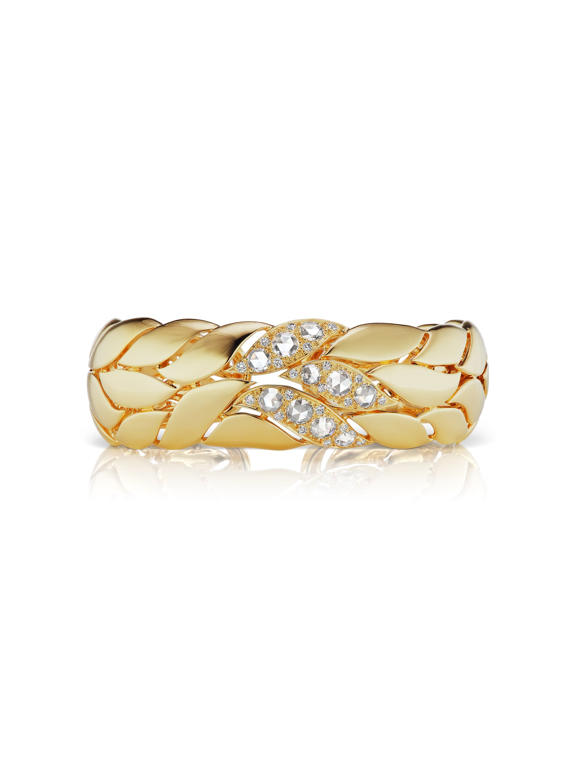 Petal Gold and Diamond Bangle