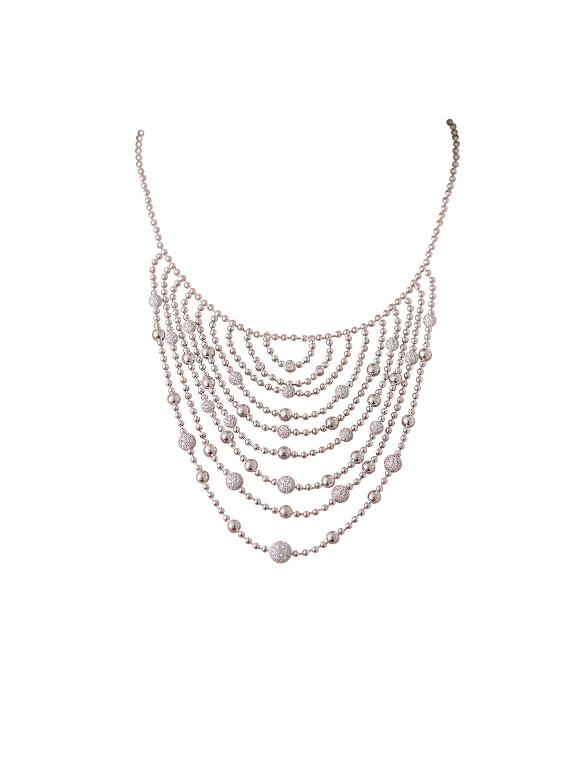 - Flapper Bib Necklace -