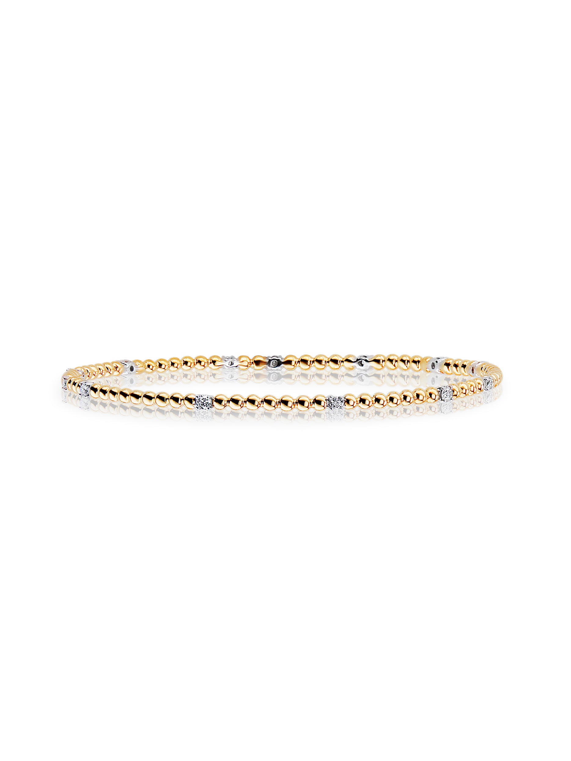 Flapper Round Diamond Bangle