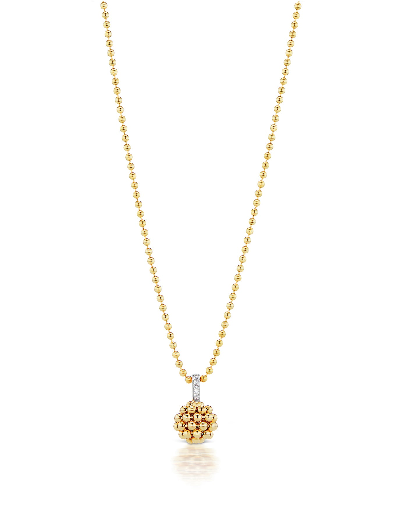 Flapper Gold Ball Pendant