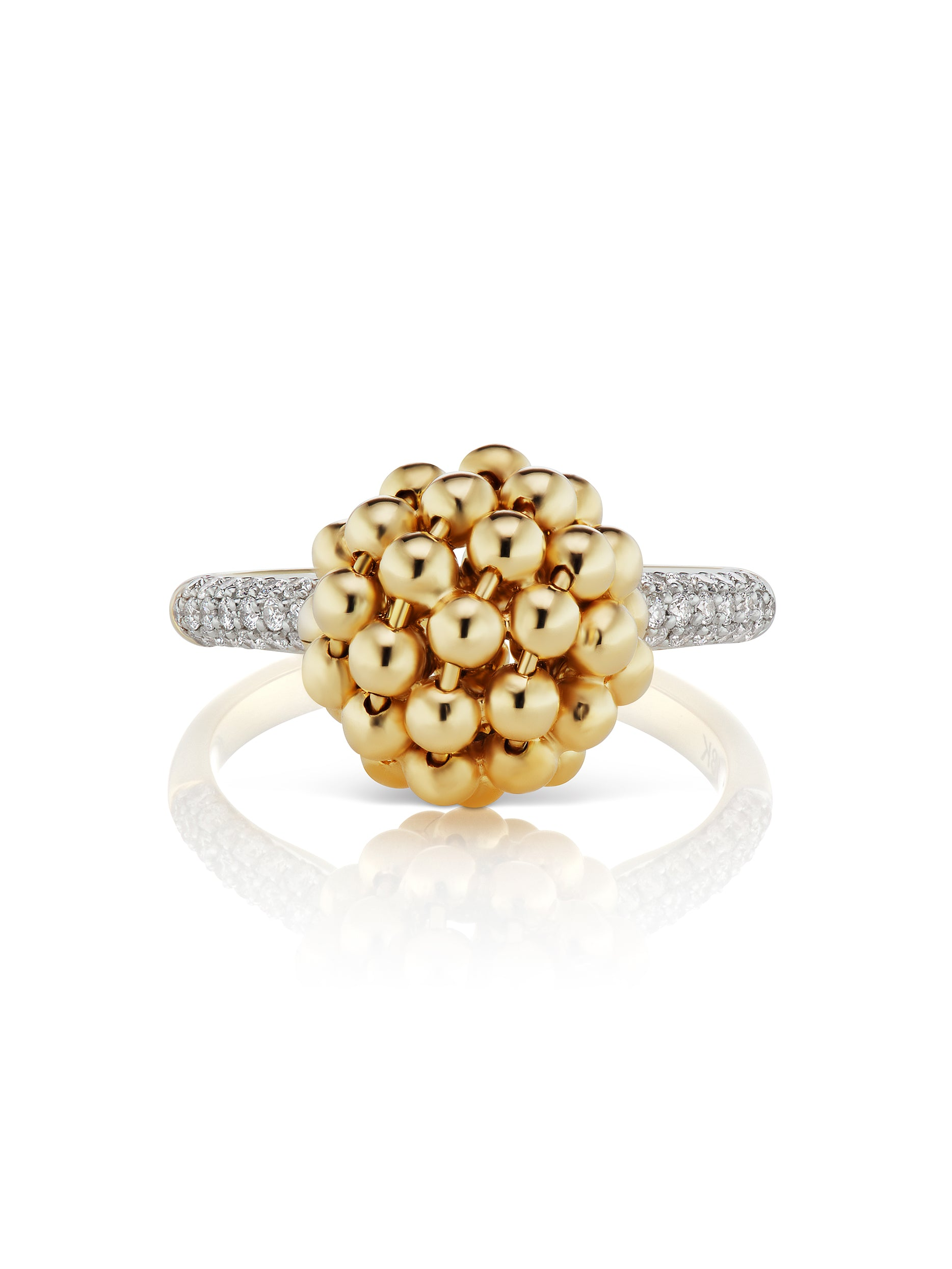 Flapper Gold Ball Ring