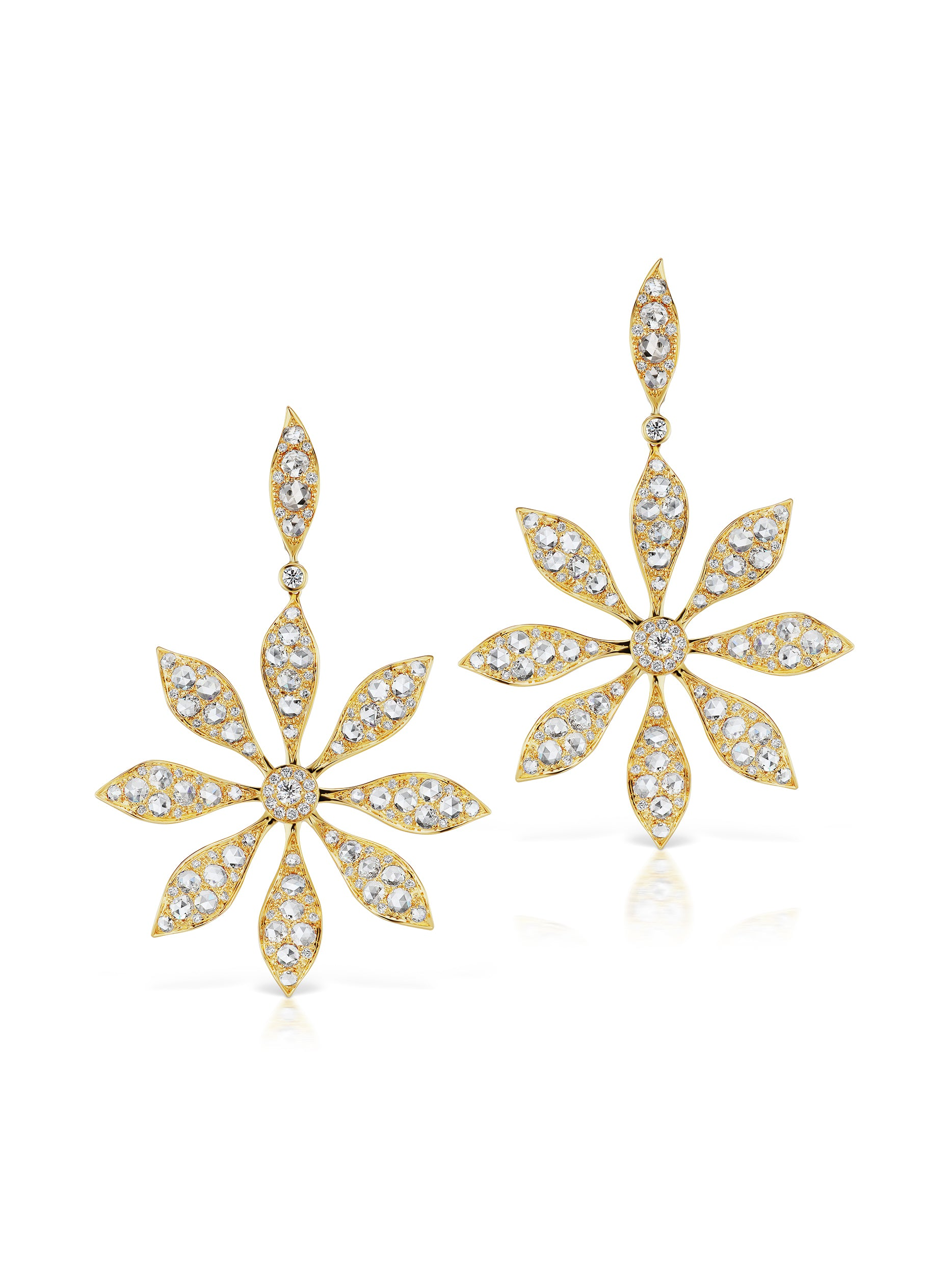 Aster Flower Statement Earrings