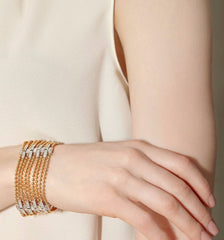 - Flapper Nine-Row Diamond Bracelet -