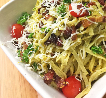 Wild Garlic Linguine Carbonara
