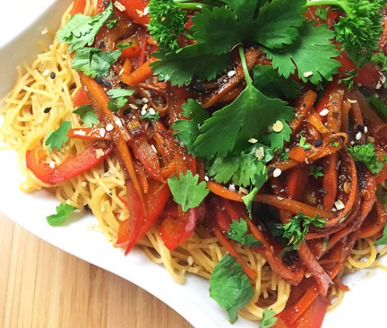 Spicy Curry Thai Noodle Dish
