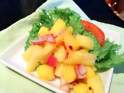 Fresh Pineapple Salsa with Mango White Balsamic