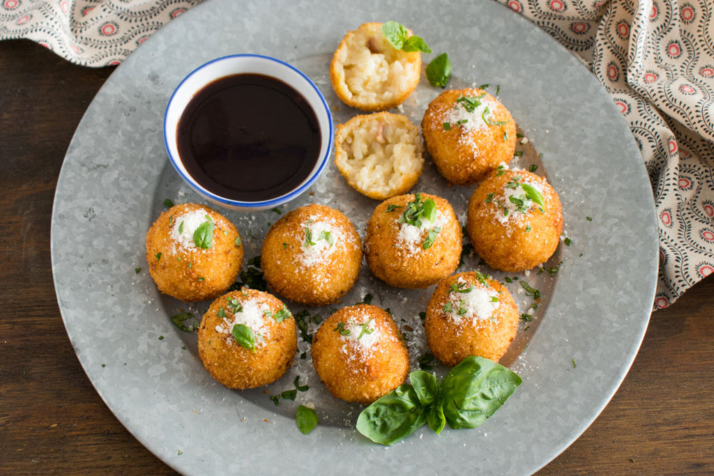 Garlic Arancini with Black Currant Dipping Sauce
