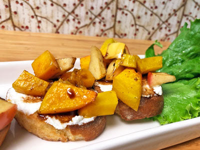 Butternut Squash Apple Bruschetta