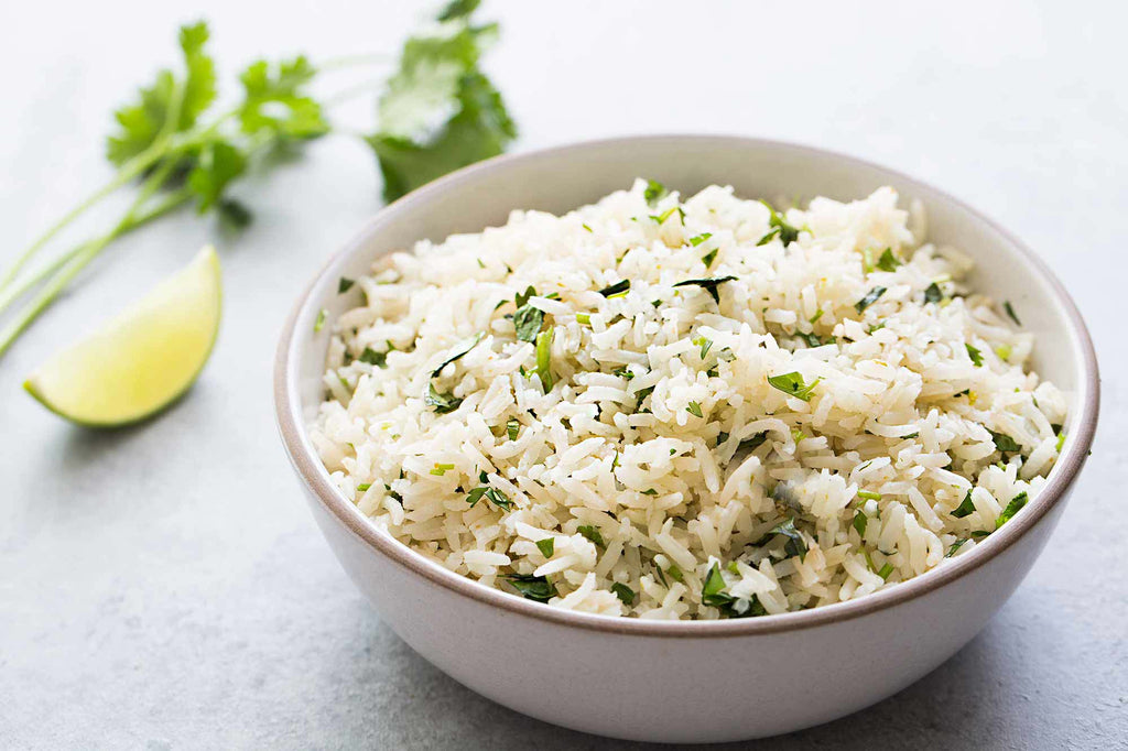 Cilantro and Roasted Onion Rice Pilaf
