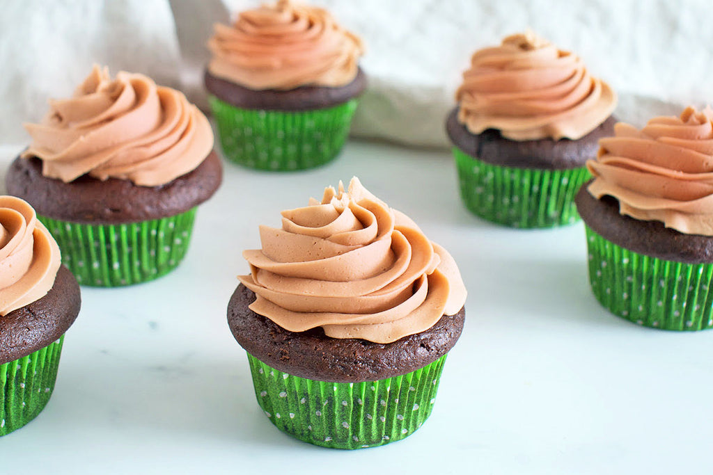 Chocolate Guinness Cupcakes with Raspberry Balsamic Frosting