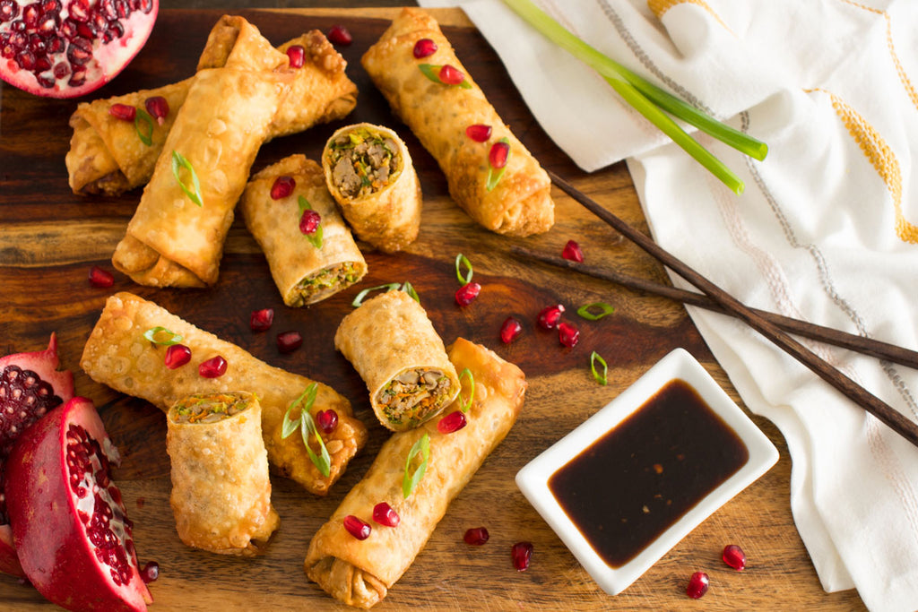 Egg Rolls with Smoky Teriyaki Dip
