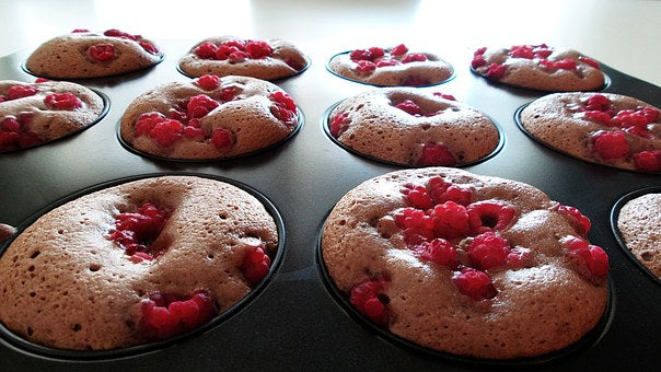 Raspberry Balsamic Muffins