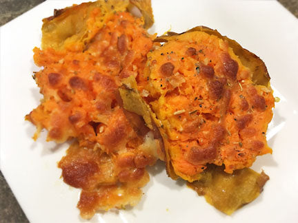 Smashed Sweet Potatoes