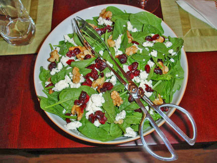 Spinach, Cranberry & Orange Salad