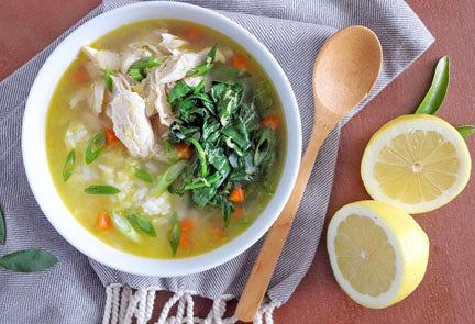 Spring Citrus and Garlic Chicken Soup