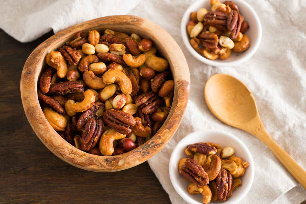 Tangy Harissa Roasted Nuts