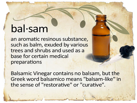 balsamic means curative