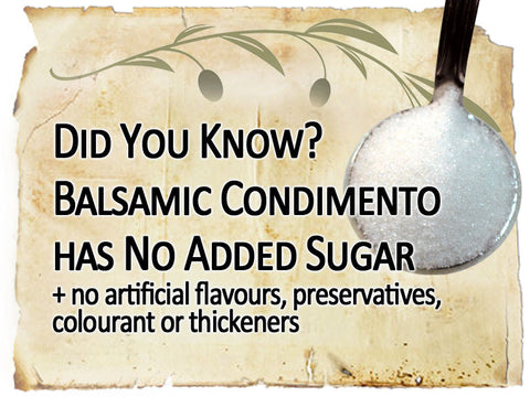 balsamic has no added sugar