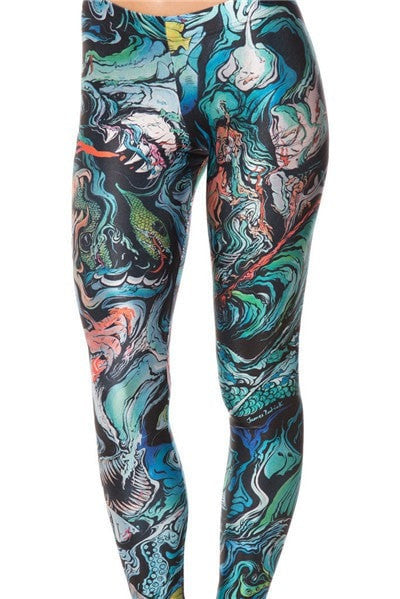 Merman Sketch Leggings