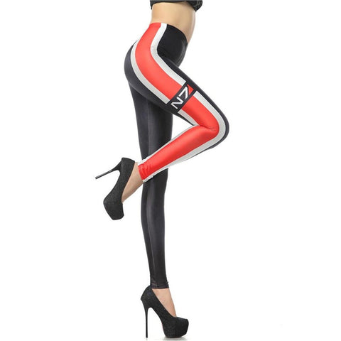 Race Stripe High Waisted Leggings