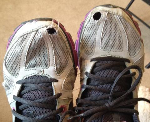 Holes in the toe box?