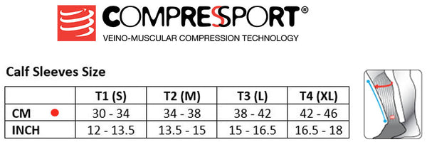 Compressport calf guard size guide