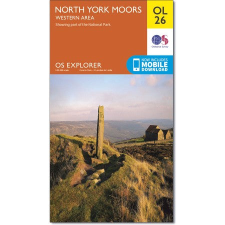 OS Explorer Map OL26 - North York Moors - Western Area