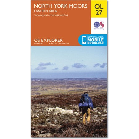OS Explorer Map OL27 - Map of North York Moors - Eastern area