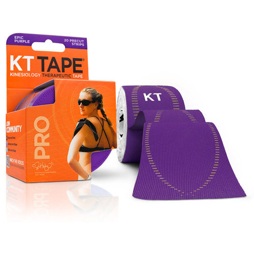 KT Tape - Kinesiology Therapeutic Tape - 20 Pre Cut Strips