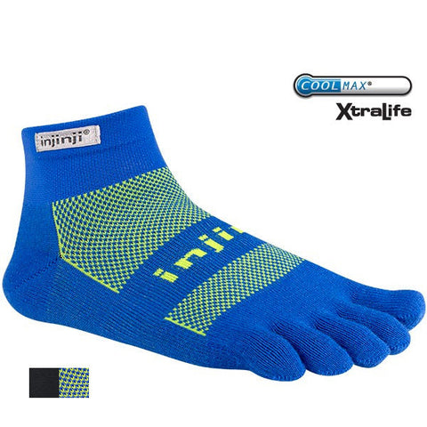 Injinji - Run Original Weight Mini-Crew - Thin Cushioning Running Sock
