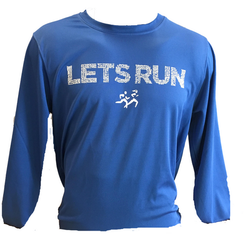 LETS RUN Mens LS Tee