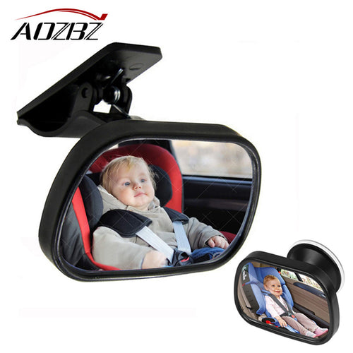 Mini Safety Car Back Seat Baby View Mirror Adjustable Safety Wide View Angle Convex Mirror Car Baby Kids Monitor