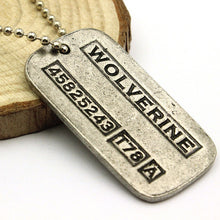 X-Men Origins Wolverines Dog Tag ID Necklace - Zinc Alloy Marvel X Men pendant jewelry for Boys