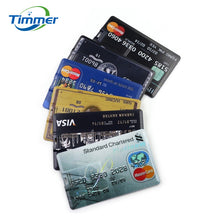 Credit Card Flash Drive - USB Flash Drive 16 GB - External Storage - Easy -Fun -Fast Memory Stick - AMEX Black Card Theme
