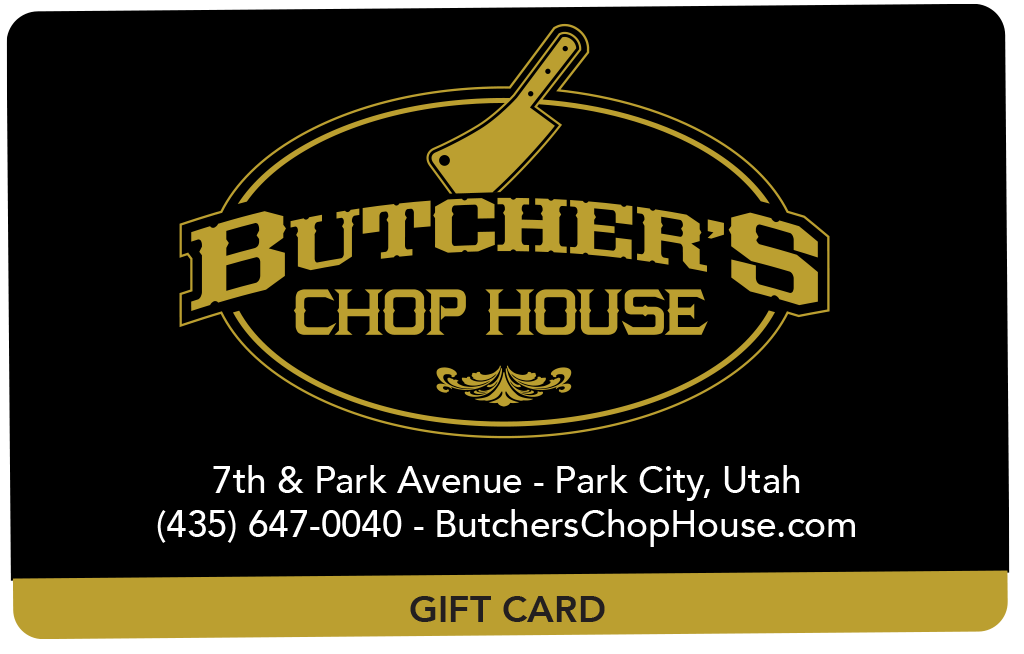 Butcher's Chop House Gift Card - choose denomination in listing