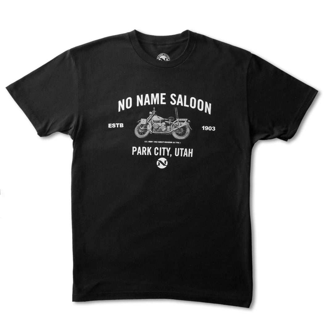 No Name Saloon Motorcycle Tee - Black