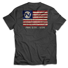 No Name Saloon 'merican Flag T - Grey