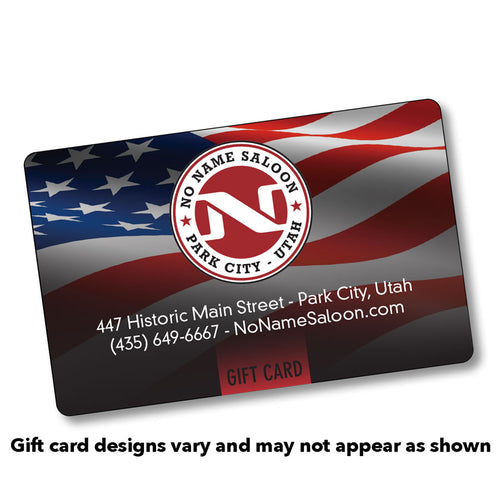 No Name Saloon Gift Card - choose denomination in listing