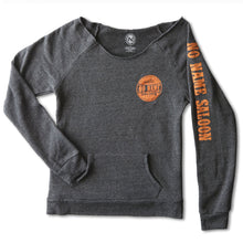 No Name Saloon Orange Biker Cutoff Sweatshirt WOMENS - Grey