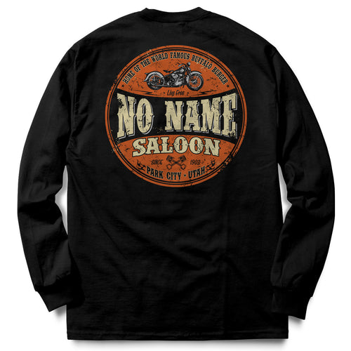 No Name Saloon Orange & Black long sleeve - Black